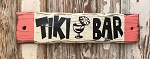 Tiki Bar.  Rustic Wood Sign.